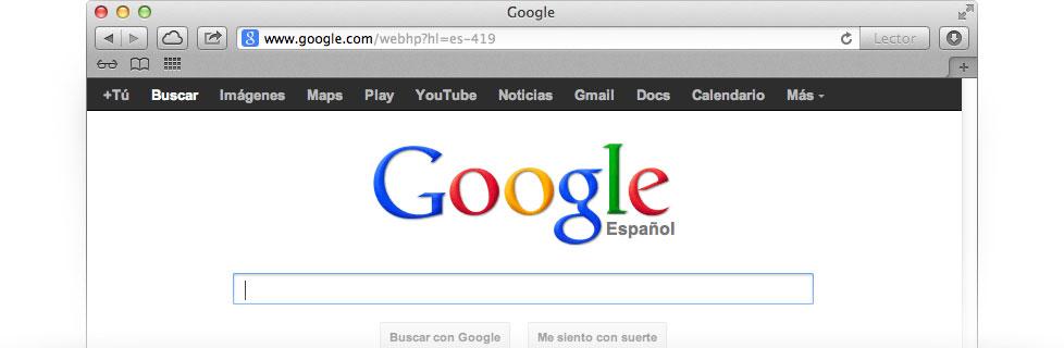 Convierte a Google en tu página de inicio. - Google