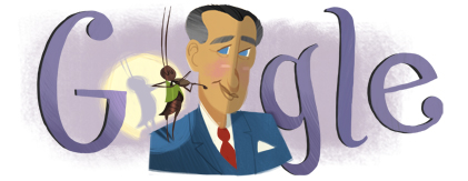 Google Logo: Francisco Gabilondo Soler's (aka Cri-Cri) 105th birthday - Mexican singer of children's songs