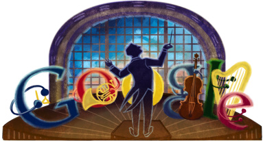 Google Logo: José Pablo Moncayo's 100th birthday - Mexican pianist & composer