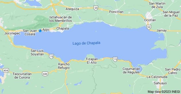 Map of Lake Chapala, Jalisco