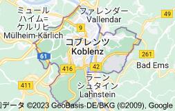コブレンツ ドイツの地図